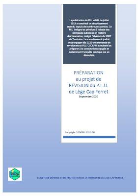 PRÉPARATION au PROJET de RÉVISION du PLU de LCF (Réflexions recueillies) – 2019-2020